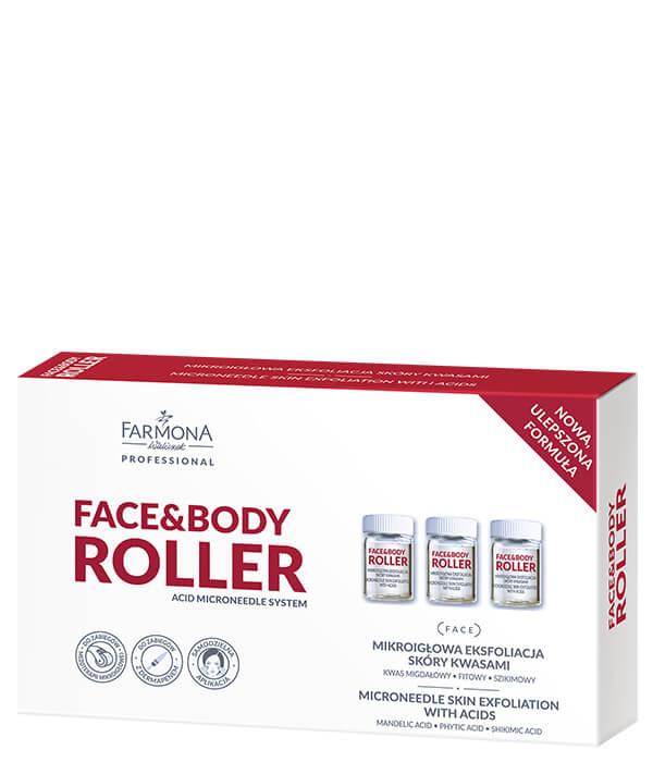 FACE&BODY ROLLER Mikroigłowa eksfoliacja skóry kwasami